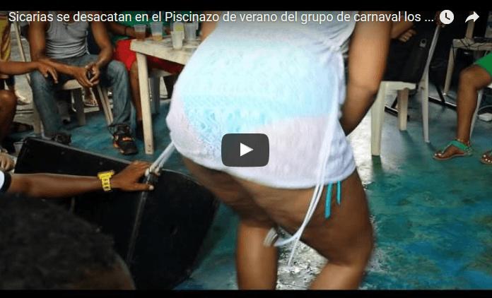 Sicarias se desacatan bainando dembow en el Piscinazo de verano del grupo de carnaval los pistoleros