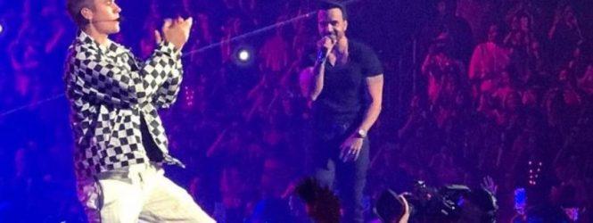 Justin Bieber interrumpe canción de Luis Fonsi ante miles de fanáticos